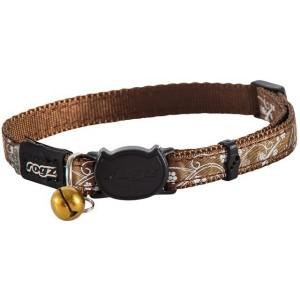 Rogz Silky Cat Collar 11mm - Bronze Filigree