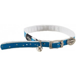 Rogz Trendy Cat Pin Buckle Collar 11mm - Blue