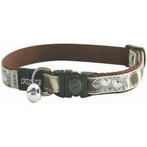 Rogz Cool Cat Collar - Brown Paw