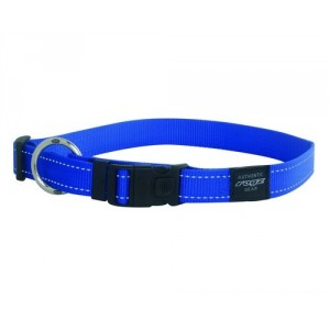 Rogz Utility Reflective Stitching Dog Collar - Blue