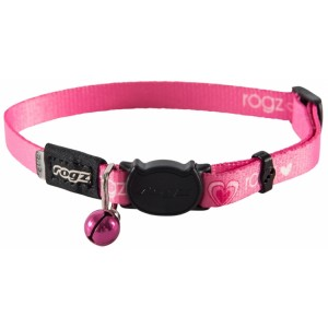 Rogz Kiddy Cat Collar 11mm - Pink Hearts